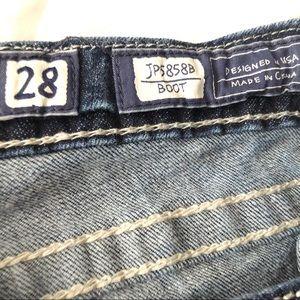Miss Me Jeans - MISS ME JP5858B JEWELED STUDDED BOOT CUT JEANS 28